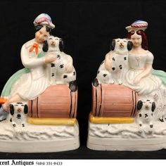 Pair of English Staffordshire Figurines - 19th Century... I want some like this!!!