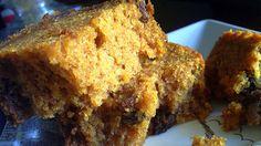 sugar free pumpkin bread ~ will try this using a gluten free flour blend Sugar Free Deserts, Sugar Free Treats, Sugar Free Recipes, Flour Recipes, Yummy Recipes, Recipies, Yummy Food, Moist Pumpkin Bread, Pumpkin Pie Bars