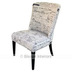 FABRIC DINING CHAIR-BLACK & WHITE | chairs