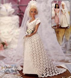 Free Knitting Pattern For Barbie Wedding Dress : 1000+ images about Crochet Barbie/doll clothes on Pinterest Fashion dolls, ...