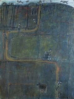 Jean Dubuffet, La route aux homme. 1944. incredibly intriging