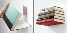 Invisible Bookshelf. I'd like three. Would go nicely in the hall way area, I think. (near the stairs) Floating books!