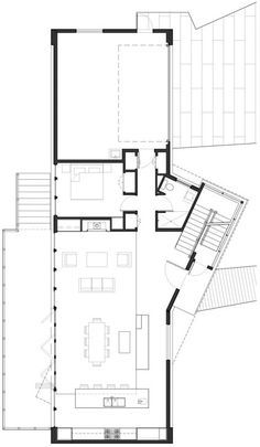Home Design Drawings Ballard Cut / Prentiss Architects - Image 15 of 17 from gallery of Ballard Cut / Prentiss Architects. First Floor Plan Architecture Plan, Residential Architecture, The Plan, How To Plan, Villa Design, House Design, House Layouts, Building Plans, House Floor Plans