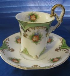 Occupied Japan Dragon Tea Cups | Antique Occupied Japan Demitasse Tea Cup Ucagco China Completed