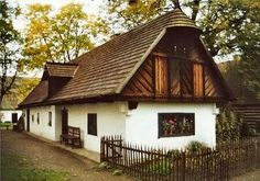 Peasant house-Parasztház Hungary Old Country Houses, Cottage Interiors, Budapest Hungary, Traditional House, Countryside, Tiny House, Building A House, House Design, Farmhouse