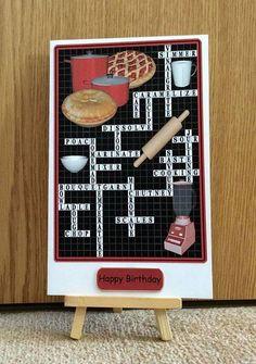 Cooking Birthday Card  Crossword Birthday by TheBlenheimCardCo