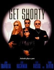 Get Shorty - 1995 - Coming fast on the heels of his spectacular comeback in Pulp Fiction, John Travolta did himself a terrific favor by selecting this well made action comedy as his first major follow up and delivering a smart, cool and charismatic performance as Chili Palmer, Miami mobster turned Hollywood screenwriter/producer.