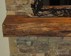 live edge wood mantle piece … | mantle ideas
