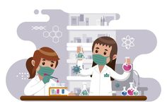 Illustration Inspiration, Family Illustration, Science Icons, Science Biology, Biology Drawing, Wallpaper Ramadhan, Chemistry Art, Science Equipment, Medical Wallpaper