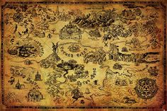 A great Map of Hyrule poster from the Legend of Zelda video game! Check out the rest of our excellent selection of Zelda posters! Need Poster Mounts. The Legend Of Zelda, Legend Of Zelda Poster, Video Game Posters, Video Game Art, Video Games, Zelda Map, Arcade, Poster Xxl, Steampunk