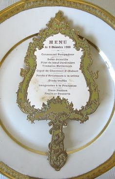 Belle's Enchanted Mirror Menu Card Beauty and the Beast Wedding