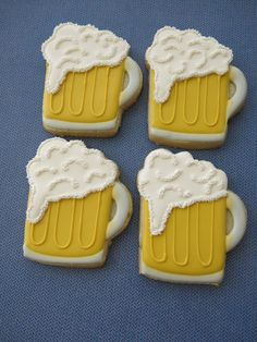 Beer Mug Sugar Cookies  1 Dozen by ParadiseSweets on Etsy, $48.00