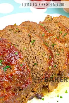 Cracker Barrel Meatloaf Recipe For Barrel Meatloaf Copycat VIDEO . Better Than Cracker Barrel's Meatloaf RecipeLion Com. Cracker Barrel Meatloaf Recipe Food Com. Home and Family Meatloaf Recipe With Crackers, Beef Meatloaf Recipes, Good Meatloaf Recipe, Best Meatloaf, Cooks Country Meatloaf Recipe, Meatloaf Seasoning, Healthy Recipes, Meat Recipes, Cooking Recipes