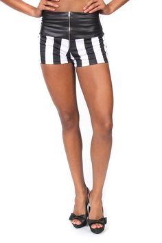 Pretty Girl - Striped High Waisted Shorts with Exposed Zipper, $14.99 (http://www.shopprettygirl.com/striped-high-waisted-shorts-with-exposed-zipper)