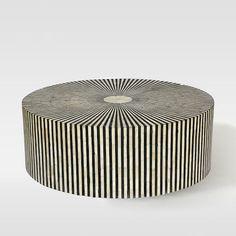 Stripe Inlay Coffee Table
