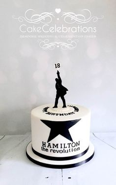 An 18th Birthday Cake for a young lady who loves the Hamilton Play…