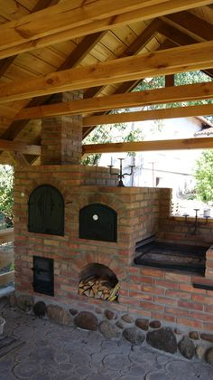 grilowedzarnia - New Ideas Outdoor Grill Station, Outdoor Cooking Area, Outdoor Kitchen Patio, Outdoor Oven, Outdoor Kitchen Design, Outdoor Living, Outdoor Kitchens, Backyard Barbeque, Rustic Backyard