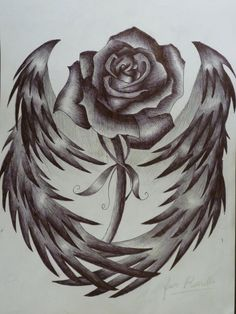 I want this. The rose represents my Granny and the angel wings represents my cousin.