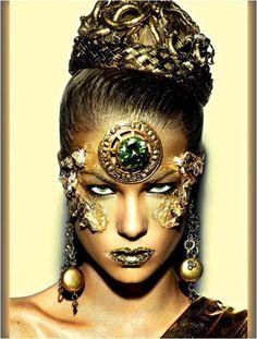 black and gold ancient fairy makeup - Google-søgning