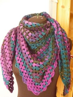 Ravelry: Project Gallery for The Original Half Granny Square/Shawl: FREE crochet pattern by Ambar Enid Alcalá