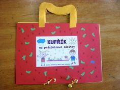 Prázdninový kufřík na zážitky - Kreativní inspirace Summer Activities For Kids, Kindergarten, Card Making, Arts And Crafts, Classroom, Teaching, School, Frame, Cards