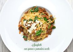 Pasta Recipes, Pasta Meals, Japchae, Spaghetti, Ethnic Recipes, Food, Essen, Meals, Yemek
