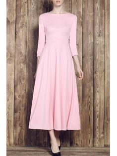 SHARE & Get it FREE | Pink Round Neck Half Sleeve Maxi DressFor Fashion Lovers only:80,000+ Items • New Arrivals Daily Join Zaful: Get YOUR $50 NOW!