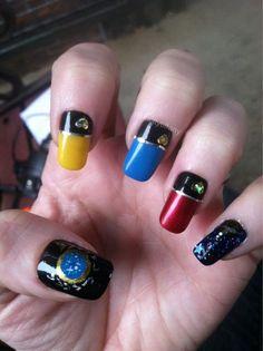 Amazing Star Trek Nail Design