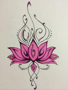 Lotus by TheTravelingKimchi on DeviantArt Flower Tattoo Drawings, Flower Tattoo Designs, Flower Tattoos, Tropical Tattoo, Hawaiian Tattoo, Body Art Tattoos, Sleeve Tattoos, Henna Butterfly, Deviantart Tattoo