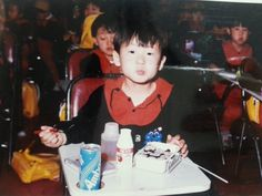 this picture is just about my childhood. I don't remember where it is, what I was doing exactly. but I remember that I loved gim-bab(Korean food) so much.