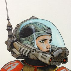 Science Fiction Characters Space Girl 61 Ideas For 2019 Arte Sci Fi, Sci Fi Art, Travis Charest, Science Fiction Kunst, Science Art, Sci Fi Kunst, Bd Art, Arte Cyberpunk, Major Tom