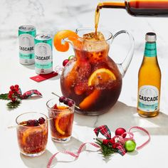 Nothing short of a Christmas miracle. Forget milk and cookies, make Santa some sangria this year with Cascade Dry Ginger Ale. Summer Christmas, Christmas Lunch, Christmas Cooking, Ginger Ale, Great Recipes, Healthy Recipes, Xmas Recipes, Christmas Food Photography, Fiesta Party