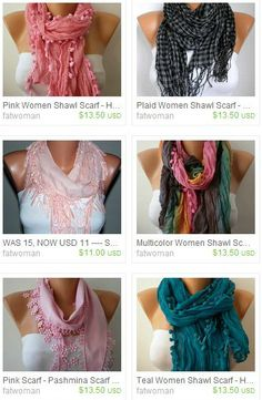 Scarves that double up as necklaces & lariats $13.50