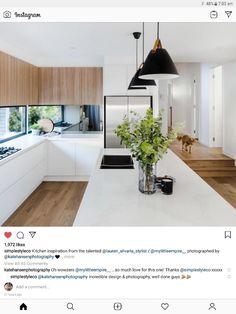 Design My Kitchen, New Kitchen Designs, Home Room Design, Home Decor Kitchen, Interior Design Kitchen, Home Kitchens, Kitchen Dining, House Design, Mid Century Modern Kitchen