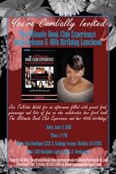 So proud of me! 1 of 2 book release parties scheduled for my upcoming book release, The Ultimate Book Club Experience. Can't make it? Pre-order your copy of UBCE at http://ultimatebookclubexperiencereleaseparty.eventbrite.com/. Pre-ordered book & bookmark will be mailed out the week of the book release party.