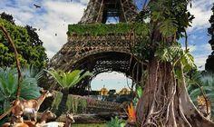 Galerie W - Eric Landau - Art Actuel Chris Morin Tour Eiffel, Dystopian Art, Post Apocalyptic City, Art Actuel, Pompidou Paris, Morin, Apocalypse Art, Louvre Paris, Concours Photo