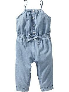 Floral-Print Chambray Rompers for Baby | Old Navy