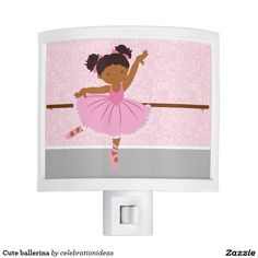 Sold. Cute #ballerina #ballet #nightlamp #roomdecor #bedroom #kids Available too in different #homedecor products. Check more at www.zazzle.com/celebrationideas