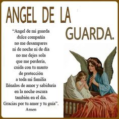 No nos desampares, Angel de la Guardia. Spiritual Prayers, Prayers For Healing, God Prayer, Prayer Quotes, Bible Quotes, Catholic Prayers In Spanish, Prayer Images, Angel Prayers, Catholic Religion