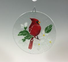 Cardinal Suncatcher by Richmondglassworks on Etsy
