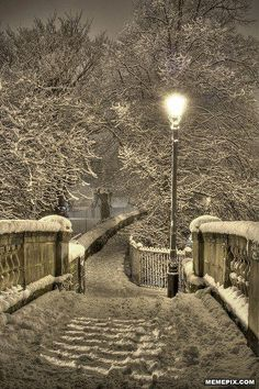 Snowy Night, Chester, England.  Beautiful! Can't wait until winter and Christmas