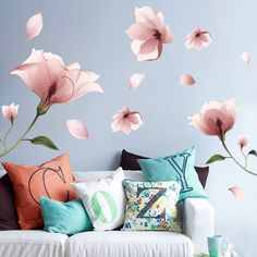 Large Romantic Mandala Flower Wall Decal