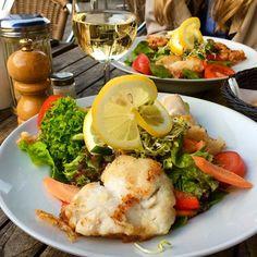 Left a foodprint at Café jakubowski. Dish: Rosefish Fillet with Mixed Salad #foodprint