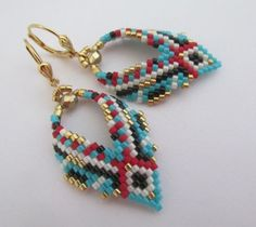 Items similar to Made to Order - Russian Leaf Earrings - Copyright 2016 - Patti Ann McAlister on Etsy Seed Bead Jewelry, Seed Bead Earrings, Leaf Earrings, Beaded Earrings, Earrings Handmade, Diy Jewelry, Beaded Jewelry, Jewelry Making, Beaded Bracelets