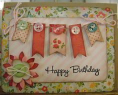 Happy Birthday mini banner card
