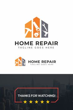 Home Repair Logo: multifunctional logo that can be used in technological companies, in companies and applications for software development, construction logo, Home Repair Logo Template Maintenance Logo, Home Maintenance Schedule, Construction Logo Design, Construction Business, Editorial Design, Handyman Logo, Logo Minimalista, Construction Birthday Parties, Love Rain