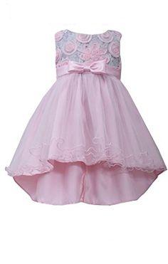 51823c4d65b Bonnie Baby Baby Girls Bonaz Lace Hi Low Dress Pink 24 Months -- Be sure