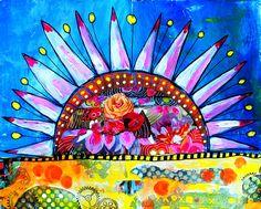 couleurs et mixed media: Art-Journal 2016 - Thème 7 - vive le soleil !