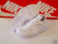0285e1d658173 Men s NIKE AIR HUARACHE RUN - WHITE   WHITE - 318429 111  Mens  Shoes