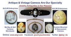 Visit our online shop at www.alcjr.com, or stop by our booth in the Buckingham Antique Mall, 13150 Midlothian Turnpike, Midlothian, VA 23113. We have a great collection of antique, vintage and special commissioned cameos in stock.